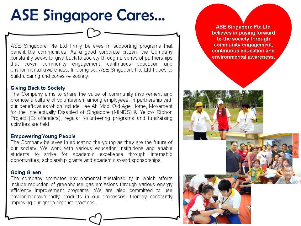 Corporate Social Responsibility Ase Singapore Pte Ltd